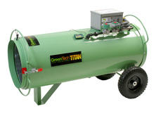 titan direct fired propane heat treatment