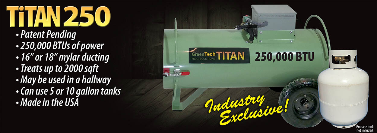 Titan 250 propane bed bug heater system